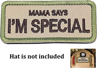 """Ehope Mama Says I'm Special Patch Tactical Morale Military Patches Funny Embroidered Fastener Hook and Loop Patches 3.54"""" x 1.57""""(I'm Special-Multitan)"""
