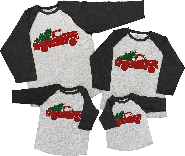 7 ate 9 Apparel Matching Family Christmas Shirts - Vintage Truck Grey Shirt