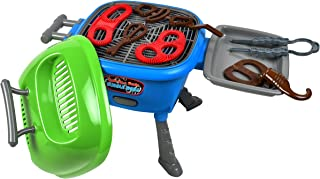 Sunny Days Entertainment Maxx Bubble Light-up and Sizzle Bubble Grill with Real Grilling Sounds Accessories