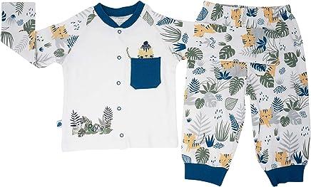 Baby Girl Toddler Leaves Pattern 100/% Cotton Sleepwear Pjs Matching Set 3 Months-3 Years