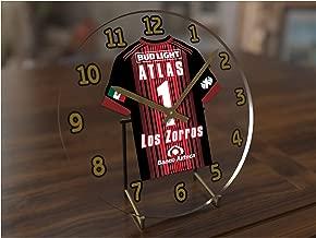 FanPlastic Liga MX Soccer Table Clocks - Any Team Colors Available/RELOJES DE LA Tabla DE FÚTBOL Liga MX - CUALQUIER Color DE EQUIPO DISPONIBLE