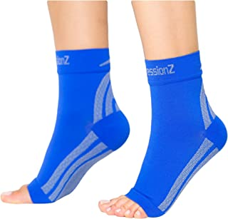e60231adb7 CompressionZ Plantar Fasciitis Socks - Compression Foot Sleeves - Ankle  Brace w/Arch Support -
