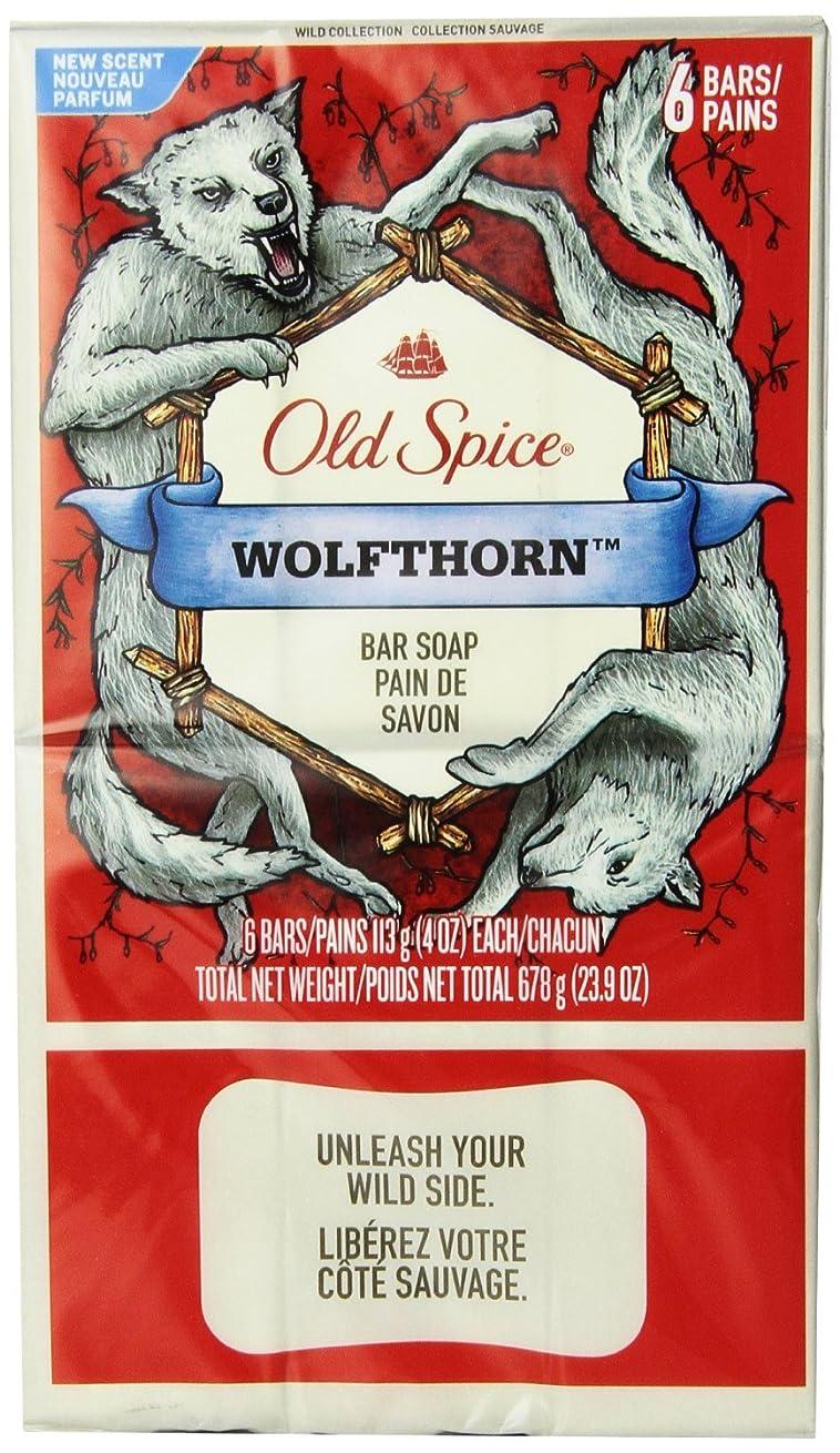 不名誉な慣らす生むOld Spice Wild Collection Wolfthorn Men's Bar Soap 12 Count by Old Spice