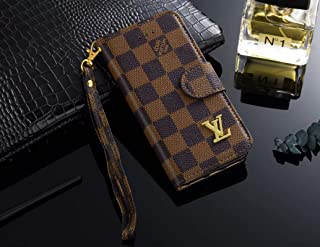 iPhone Xs/X Case, Monogram Leather Luxury Wallet Case Cover for iPhone X, iPhone Xs