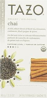 Tazo Organic Chai - 149904, Black Tea-24 Tea Bags-2.3oz/65g