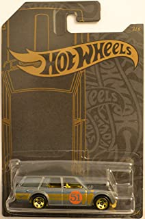 Hot Wheels Compatible '71 Datsun 510 Wagon 2 of 6 51st Anniversary Satin & Chrome Series 1:64 Scale Collectible Die Cast Model Car