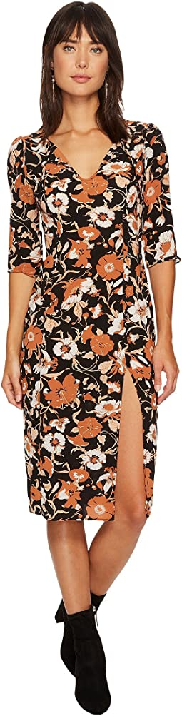 For Love and Lemons - Floret Print Midi Dress