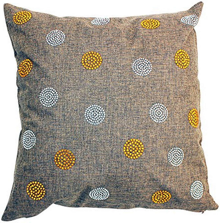 Sparkles Home Rhinestone Bobble Pillow, Chocolate