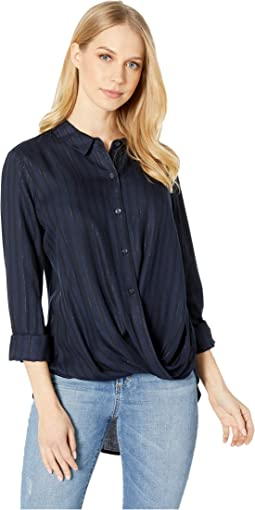 Wrap Hem Long Sleeve Shirt