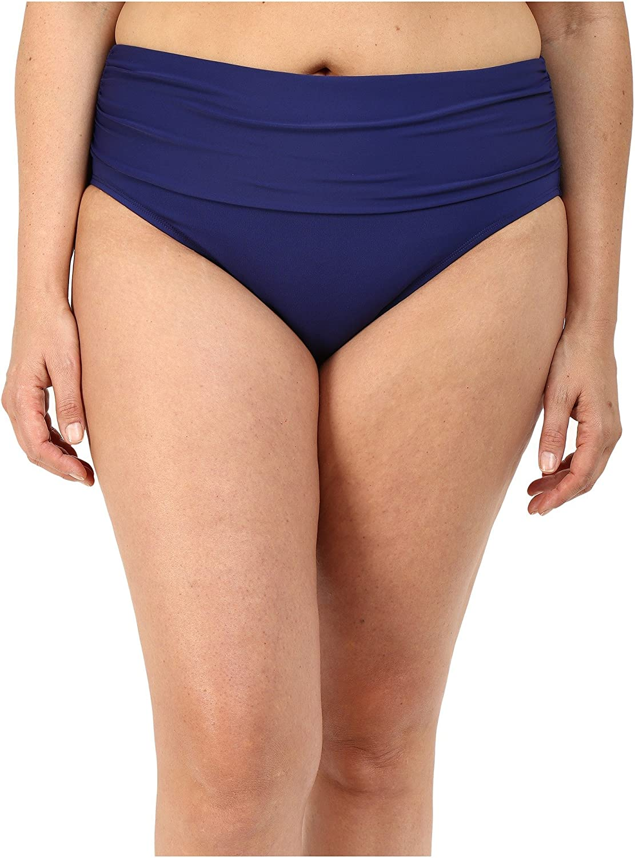 Bleu Rod Beattie Women's Plus-Size Solid Midster Bikini Bottom
