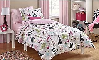 Full Size Bag Bedding Set Kids Paris Bed in Pink
