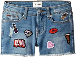 Patches Shorts in Stone Wash (Big Kids)