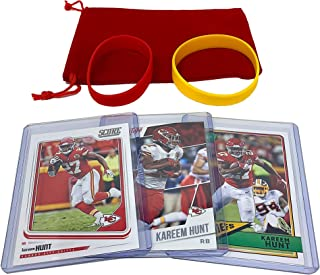 Kareem Hunt Football Cards (3) Assorted Bundle - Kansas City Chiefs Trading Card Gift Set
