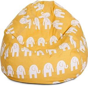 Majestic Home Goods Bean Bag, Yellow Ellie