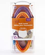 Authentic Knitting Board His and Her Sock Looms, Purple/Orange