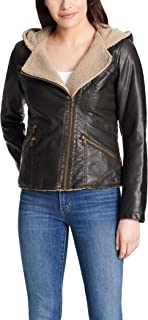 Women's Assymetrical Sherpa-Lined Faux-Fur Jacket
