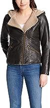 Levi's Women's Assymetrical Sherpa-Lined Faux-Fur Jacket