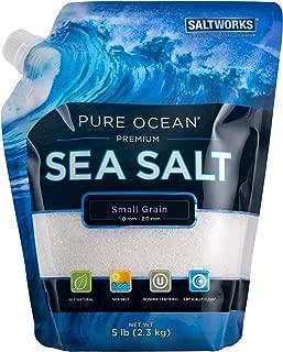 SaltWorks Pure Ocean Sea Salt, Small Grain, 5 Pound