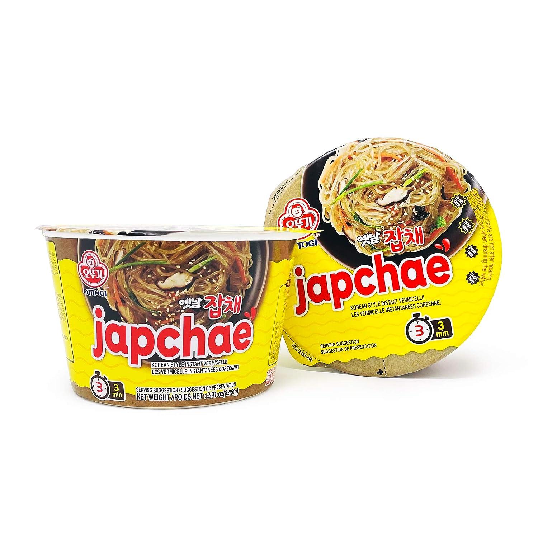 Ottogi Japchae Noodle bowl 2.91oz, Pack of 2.(오뚜기 옛날 잡채 82.5g 2팩)