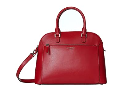 Kate Spade New York Louise Medium Dome Satchel (Hot Chili) Bags