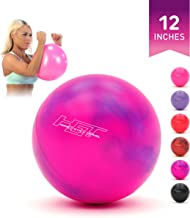 """H.G.T Flex Ball 12"""" (30 cm) Mini Small Exercise Ball for Fitness, Yoga, Balance, Arms, Legs, Resistance Workout with Guide & Pump - Home Gym Equipment for Women, Men, Kids - Anti Burst, Non Slip"""