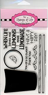 Lemonade Stamps for Card-Making and Scrapbooking Supplies by The Stamps of Life - MoreLemonade2Stamp Sentiments