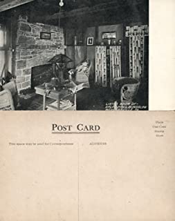 WERNERSVILLE PA GALEN HALL hotel BUNGALOW LIVING ROOM ANTIQUE POSTCARD