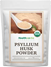 Healthworks Psyllium Husk Powder (32 Ounces / 2 Pounds) | Raw | Certified Organic | Finely Ground Powder from India | Keto, Vegan & Non-GMO | Fiber Support | Packaging May Vary