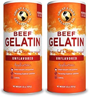 Great Lakes Pure Beef Gelatin, 16oz Can 2-Pack
