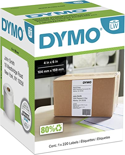 2021 DYMO LabelWriter Shipping - lowest Shipping Labels - Black on White online - 4 in x 6 in - 220 Label(s) online sale