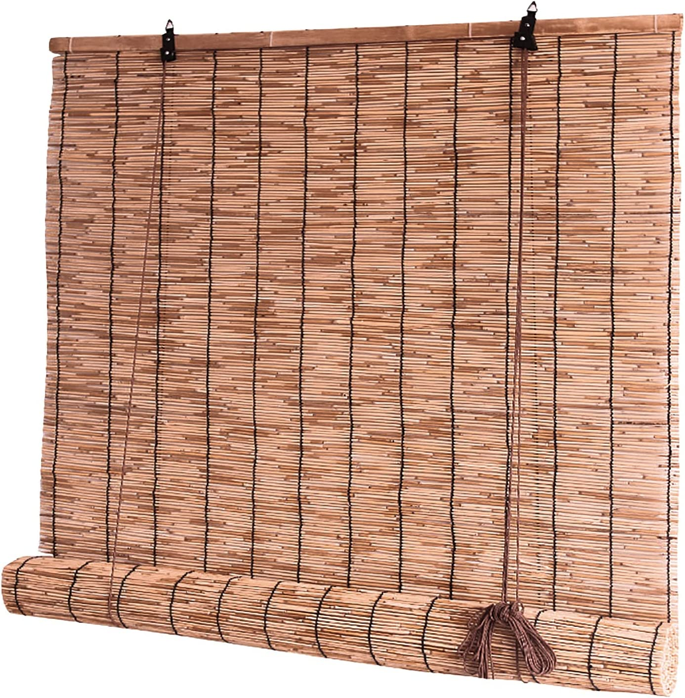 DBXOKK Natural Reed Don't miss the campaign Spring new work Curtain Outdoor Shade Roller Weatherp