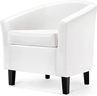 Amazon Com Living Room Chairs White Chairs Living Room Furniture Home Kitchen
