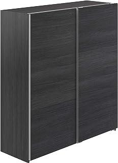 Marque Amazon -Movian - Armoire 2portes coulissantes Kolva Modern, 61 x 180 x 197, Gris