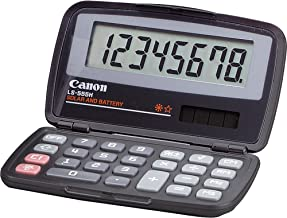 Canon LS555H Compact Pocket Calculator - 8 Character(s) - LCD - Solar, Battery Powered - 4.33amp;quot; x 2.88amp;quot; x 0.6amp;quot; - Black