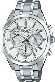 Men's Edifice Silver Quartz Watch with Stainless-Steel...
