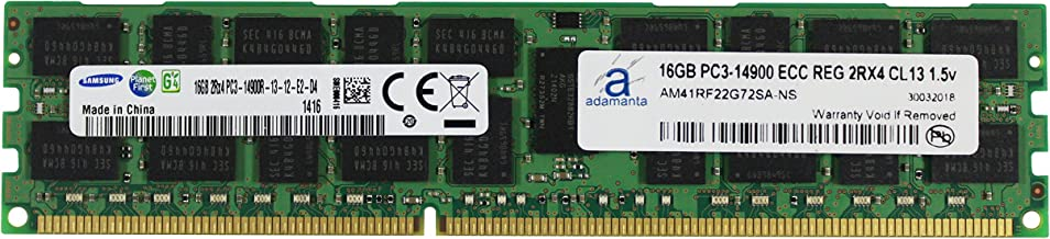 Adamanta 16GB (1x16GB) Server Memory Upgrade for Dell Poweredge & Precision Servers Samsung Original DDR3 1866Mhz PC3L-14900 ECC Registered 2Rx4 CL13 1.5v DRAM RAM