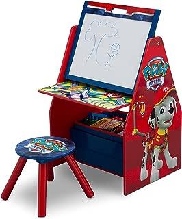 Delta Children Activity Center with Easel Desk, Stool, Toy Organizer, Nick Jr. PAW Patrol