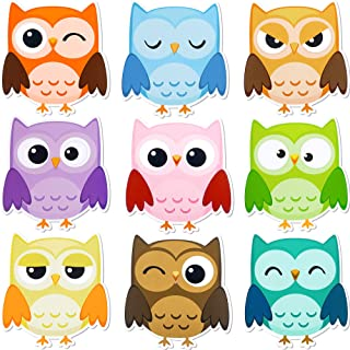 45 Pieces Colorful Owls Cut-Outs Mini Owl Accents Mix Owl Cutouts for Party School Classroom Bulletin Board Craft Home Wal...