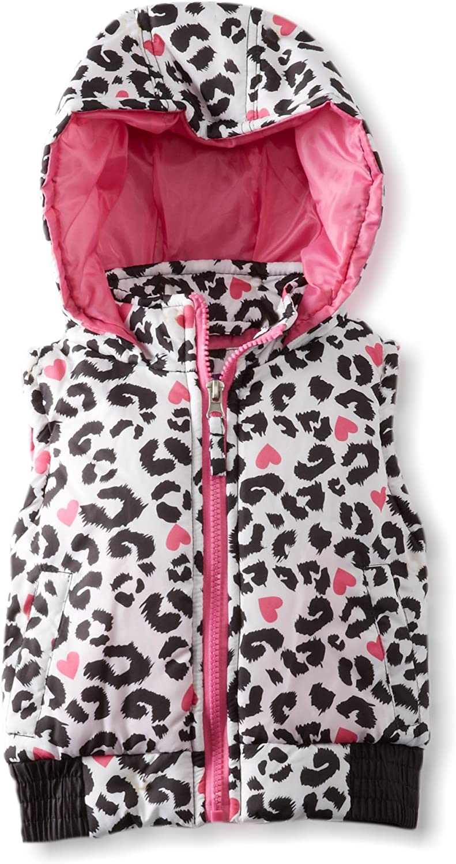 Pink Platinum Little Girls' Cheetah Printed Vest