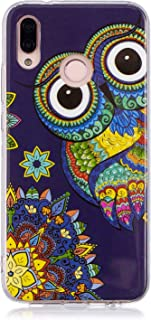 Huawei P20 Lite Case, Luminous Noctilucent Glow in the Dark Case Matching Design Protective Phone Back Cover TPU Shell Case for Huawei P20 Lite/Nova 3e (Owl)