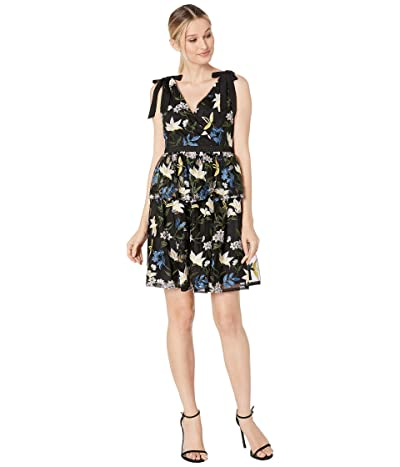 Adrianna Papell Sequin Embroidery Cocktail Dress (Blue/Yellow Multi) Women