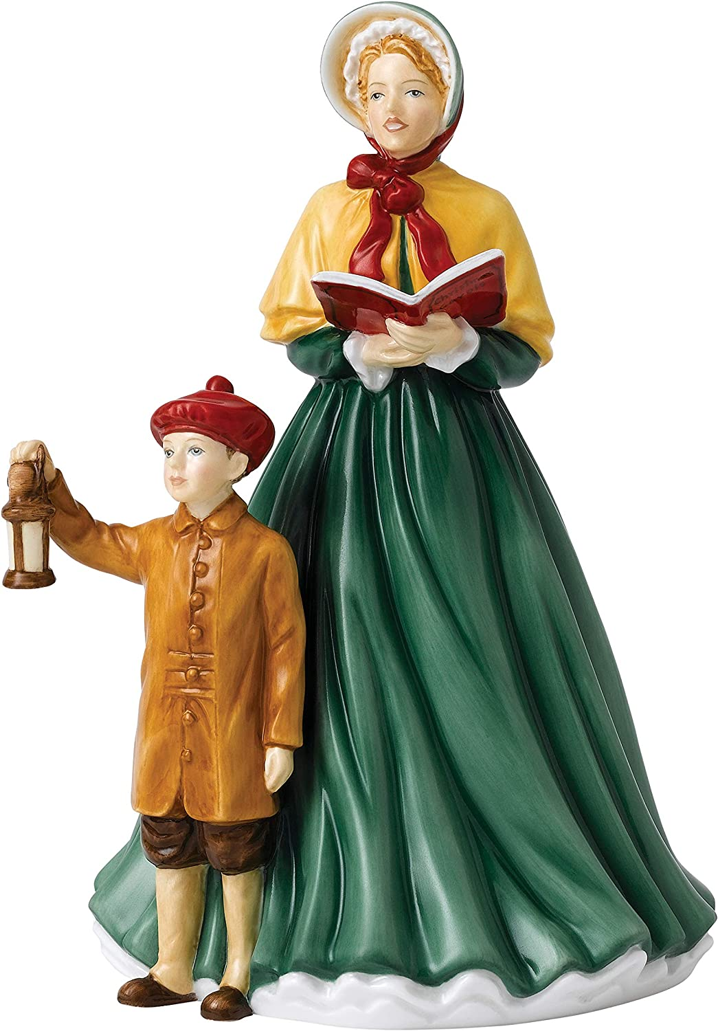 Royal Doulton Singers 2018 6.7  HN 5888 Here We Here We Come A-Caroling Figurine, Green