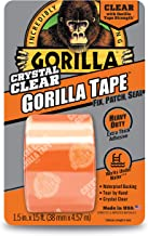 """Gorilla Crystal Clear Duct Tape, 1.88"""" x 5 yd, Clear, (Pack of 1)"""