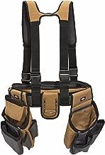 Dickies Work Gear – 4-Piece Carpenter's Rig – 57023 – Tool Belt Suspenders – Cooling Mesh – Padded Suspenders – Steel Buckle – Leather Tool Belt – Grey/Tan – 3.8 lb.