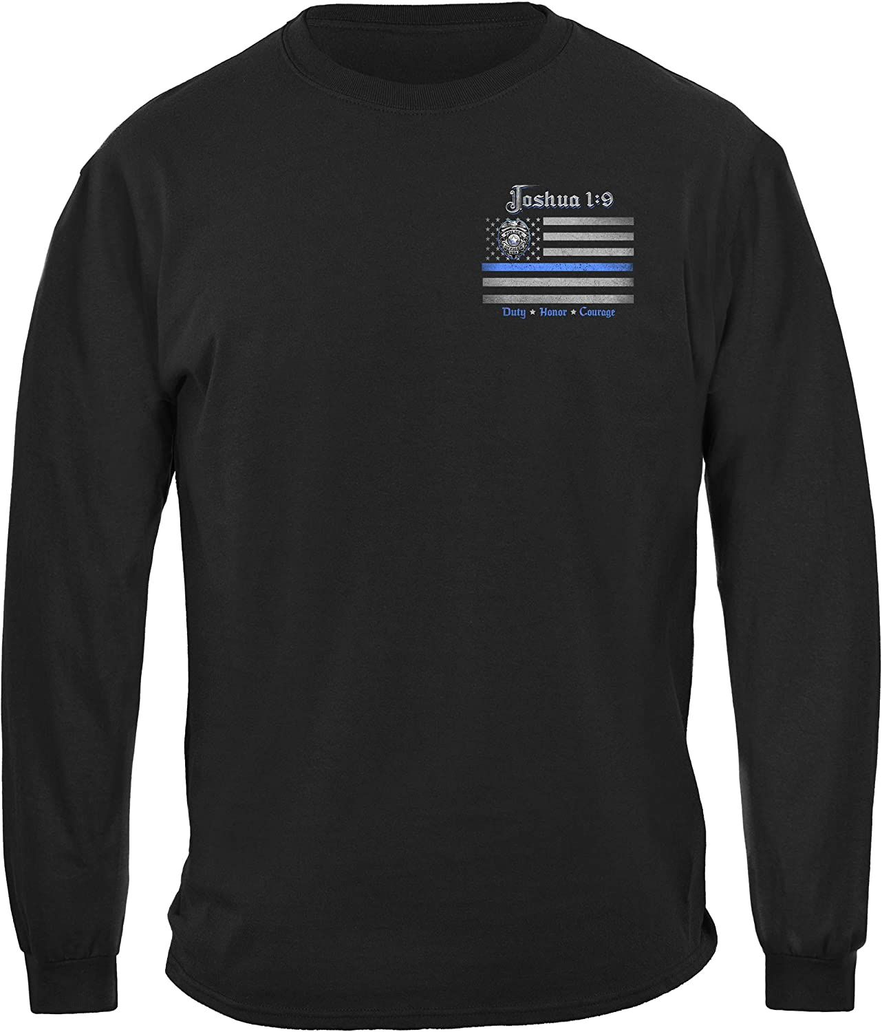 Erazor Bits Law Enforcement Joshua 1:9 Back The Blue Law Enforce T-Shirt FF2490