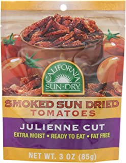 California Sun-Dry Smoked Sun Dried Tomatoes (Julienne Cut), 3-Ounce Bags (2 Pack)