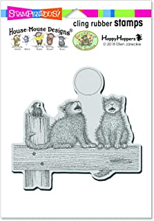 Stampendous HMCW09 House Mouse Cling Stamp-Moon Song, Grey