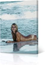 HB Art Design Brigitte Bardot Tanning During The Filming of Contempt Movie Colored Canvas Wall Art Print Sexy French Icon ...