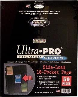 Ultra Pro 18-Pocket Platinum Side Load Page with Black Background