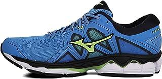 Mizuno Australia Men's Wave Sky 2 Running Shoes, Azure Blue/Sharp Green/Black, 12.5 US